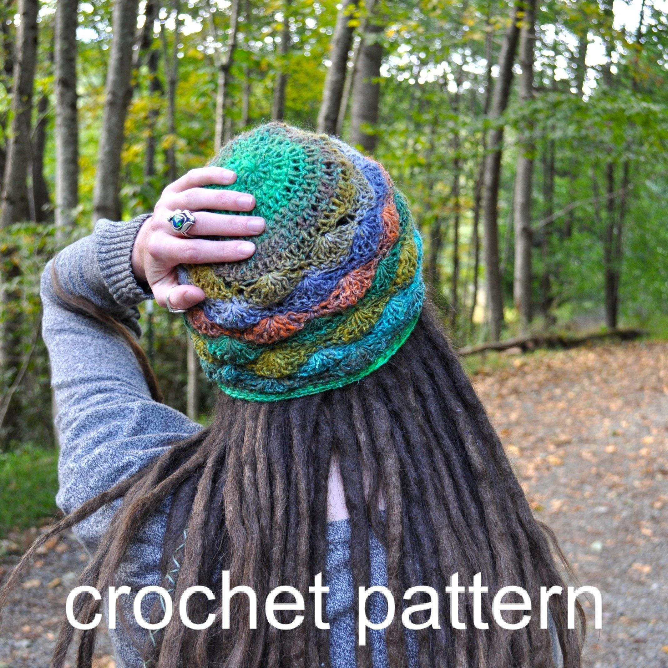 Crochet Pattern Quick Easy Lacy Shell Hat For Women Cobblestone