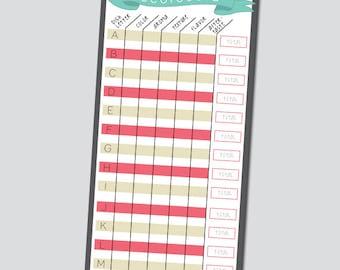 Pie Cookoff Scorecards - INSTANT DOWNLOAD