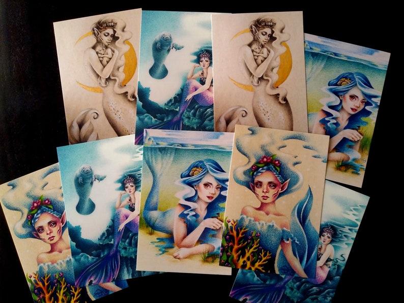 Mermaid 4x6 Postcard