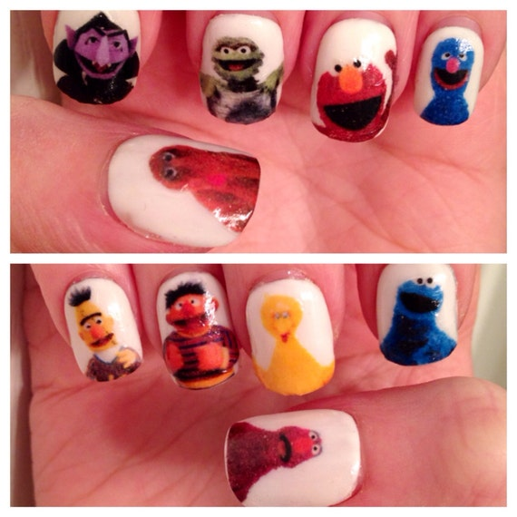 Sesame Street Nail Decals | Etsy