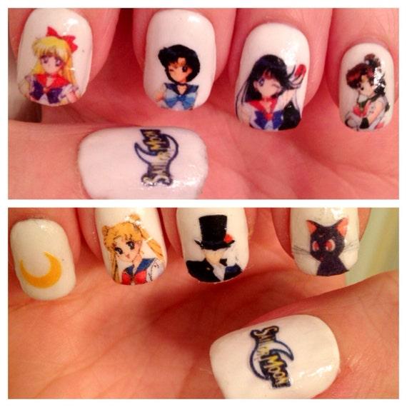Sailor Moon Uñas Tatuajes