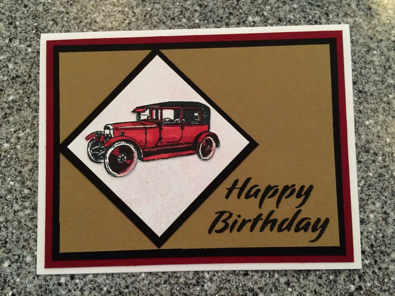 Happy Birthday Card Perfect For Dad Husband Or Any Car Lover