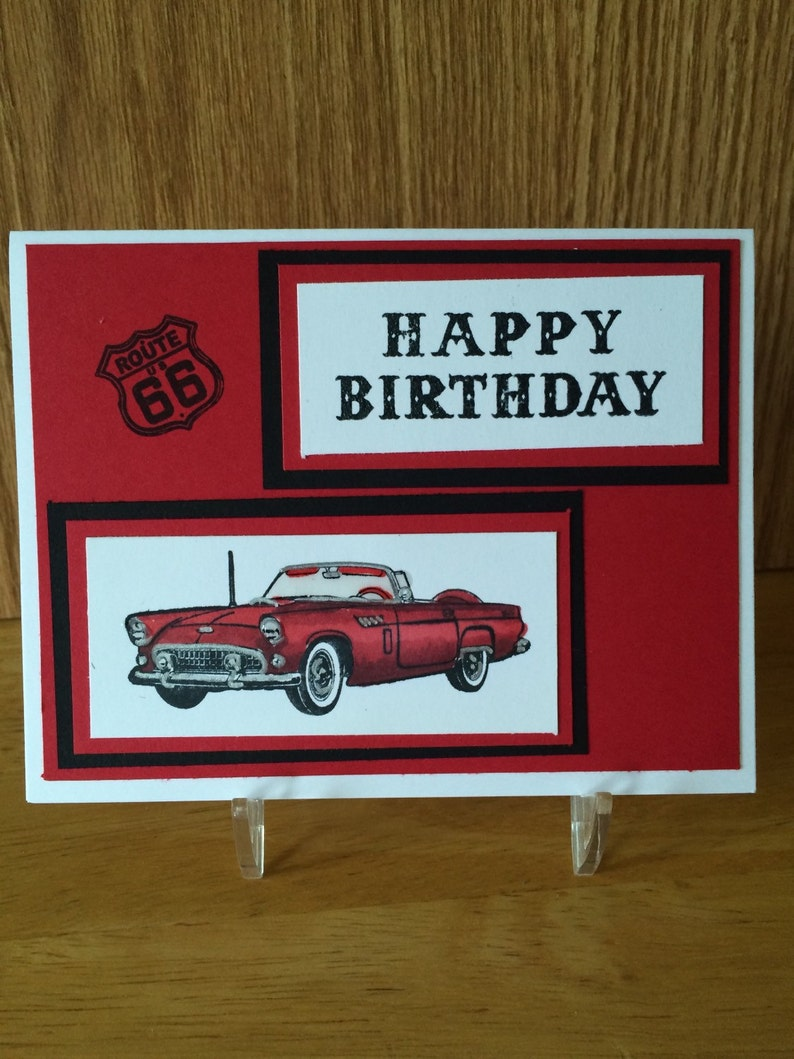 Ford Thunderbird Happy Birthday Card Perfect For Dad