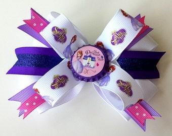 DISNEY PRINCESS SOPHIA Bow. Princess Disney Hair Bow. Hair accessories.