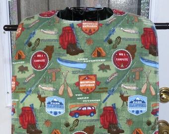 Great Outdoors Large Tall Adult bib XL Tall Adult Bib Flannel Terry Cloth Lined Adjust neck fit with hook & loop Reversible Tall Adult Bib