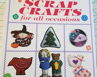 Scrap Crafts for all Occasions Binder with Pattern-Pacs,  3.25 inch binder with pictures patterns templates instructions Excellent condition