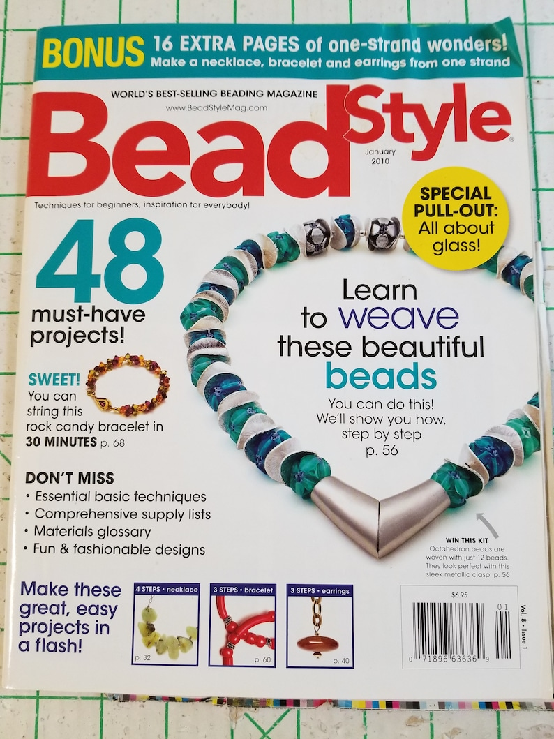 FLASH SALE 20% OFF Sale Bead Style Magazines January 2010 November 2011  Beading Basics Plus 48 projects in one magazine 40 projects in the o