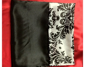 Damask/Black Pillow Case