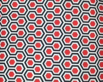 Red White Blue Honeycomb Fabric - By The Yard