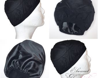 Wig Cap Satin Lined - Black