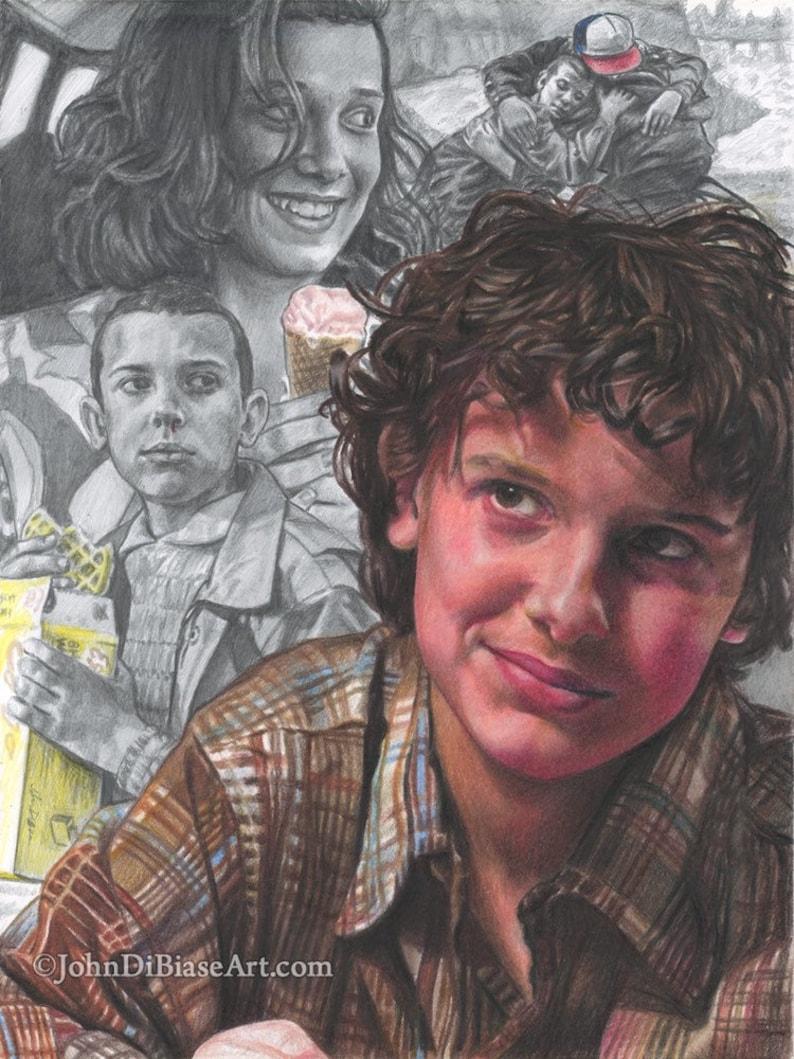 Print of Stranger Things Eleven Millie Bobby image 0