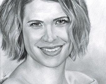 Kristy Swanson Original Graphite Drawing (NOT a print)