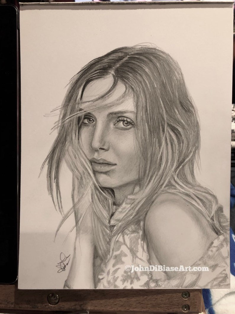 ORIGINAL Pencil Drawing of Annabelle Wallis 9 x 12  NOT A image 0