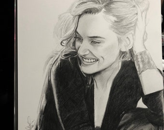 Kate Winslet Original Graphite Sketch (NOT a print)