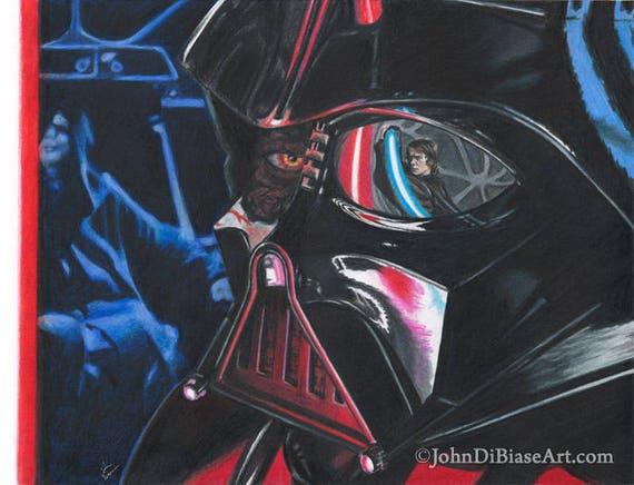 Crayon De La Couleur Marqueur Dessin Imprimé De Darth Vader Vs Anakin
