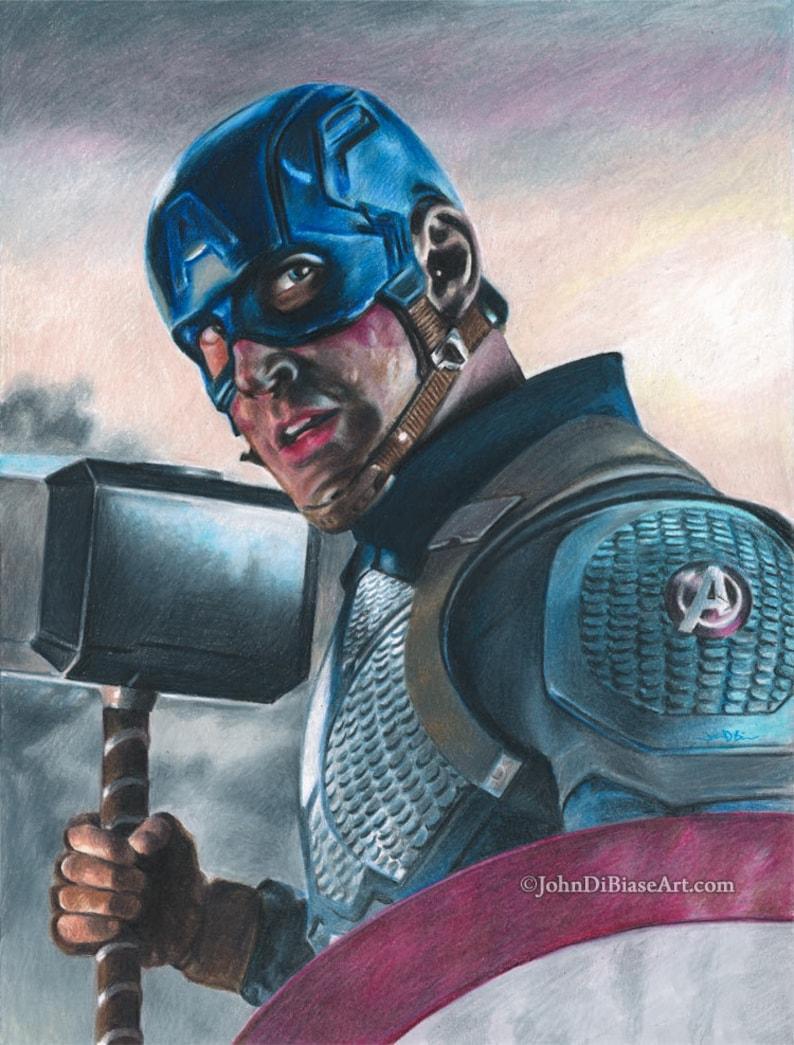 Captain America in Avengers Endgame Chris Evans Colored image 0