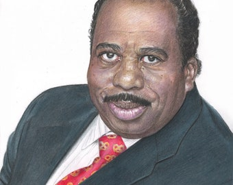 "Stanley Hudson from ""The Office"" (Leslie David Baker) Drawing Print"