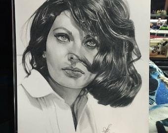 Sofia Loren Original Drawing (NOT a print)