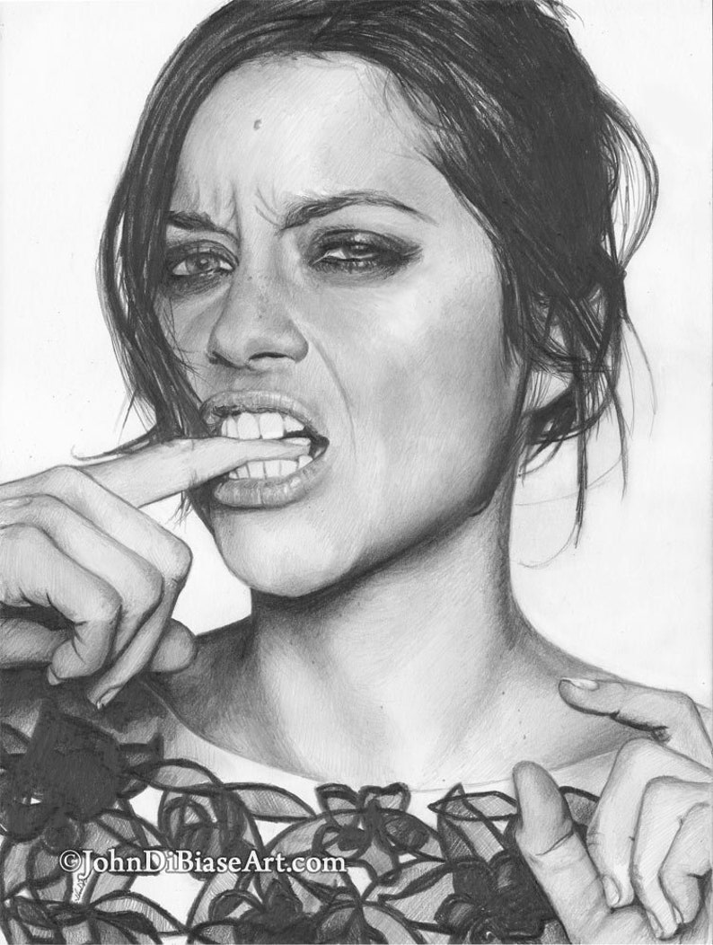 Drawing Print of Marion Cotillard Inception The Dark Knight image 0