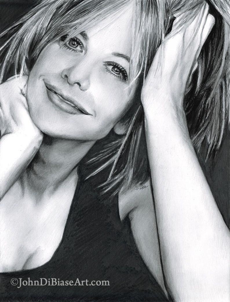 Drawing Print of Actress Meg Ryan image 0