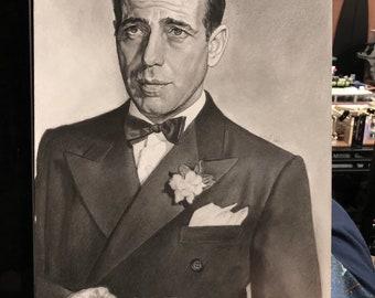 Humphrey Bogart Original Drawing (NOT a print)