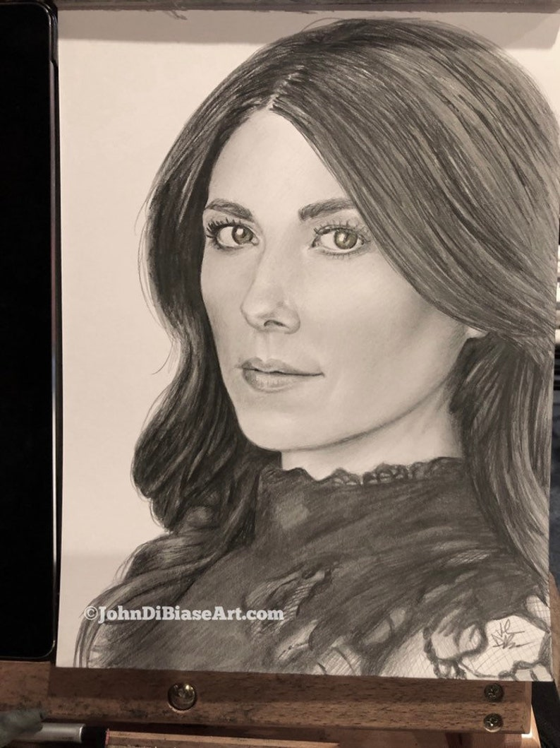 ORIGINAL Pencil Drawing of Jewel Staite 9 x 12  NOT A PRINT image 0