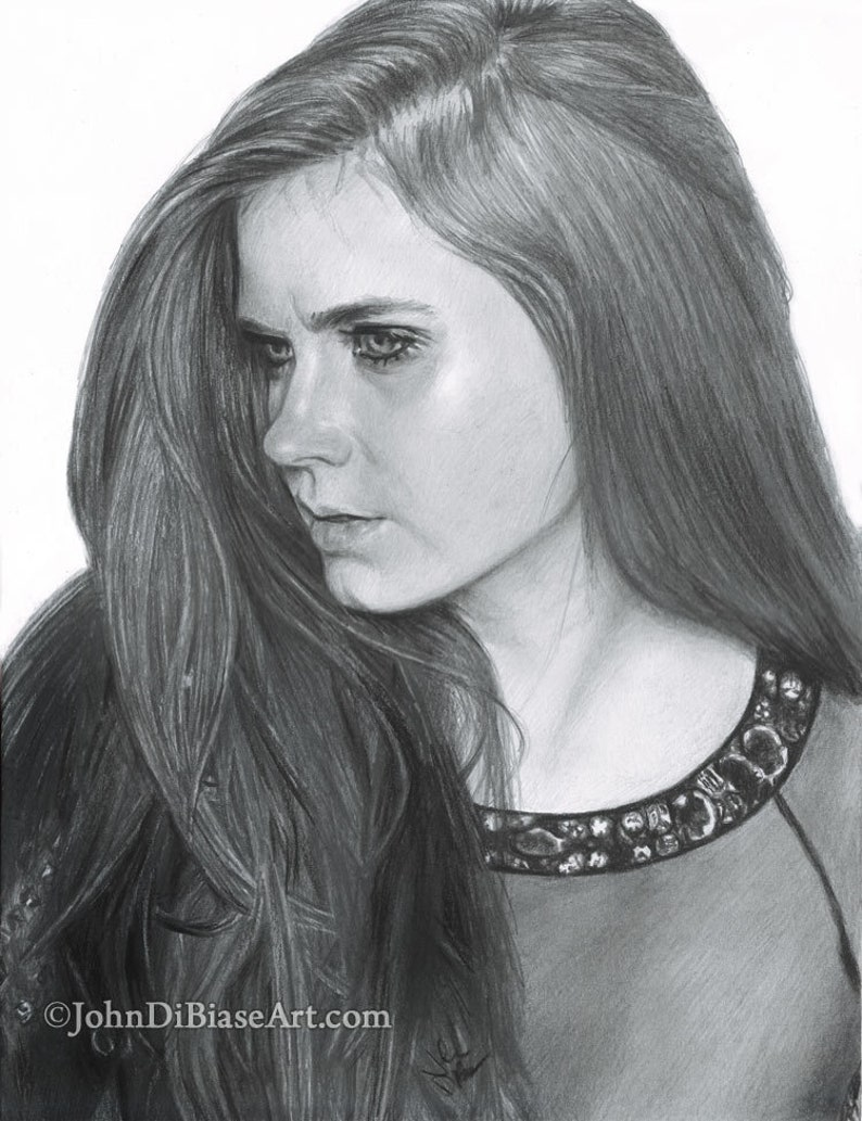 Print of Pencil Drawing of Amy Adams 8.5 x 11 image 0