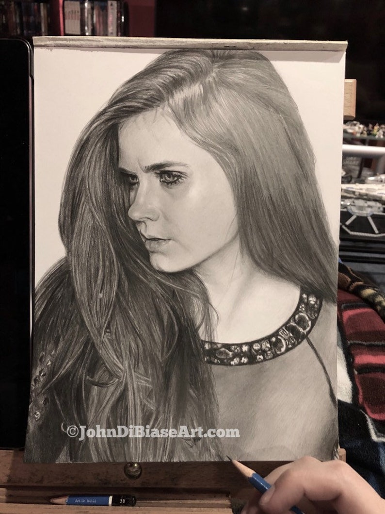 Original Drawing of Amy Adams NOT a print image 0