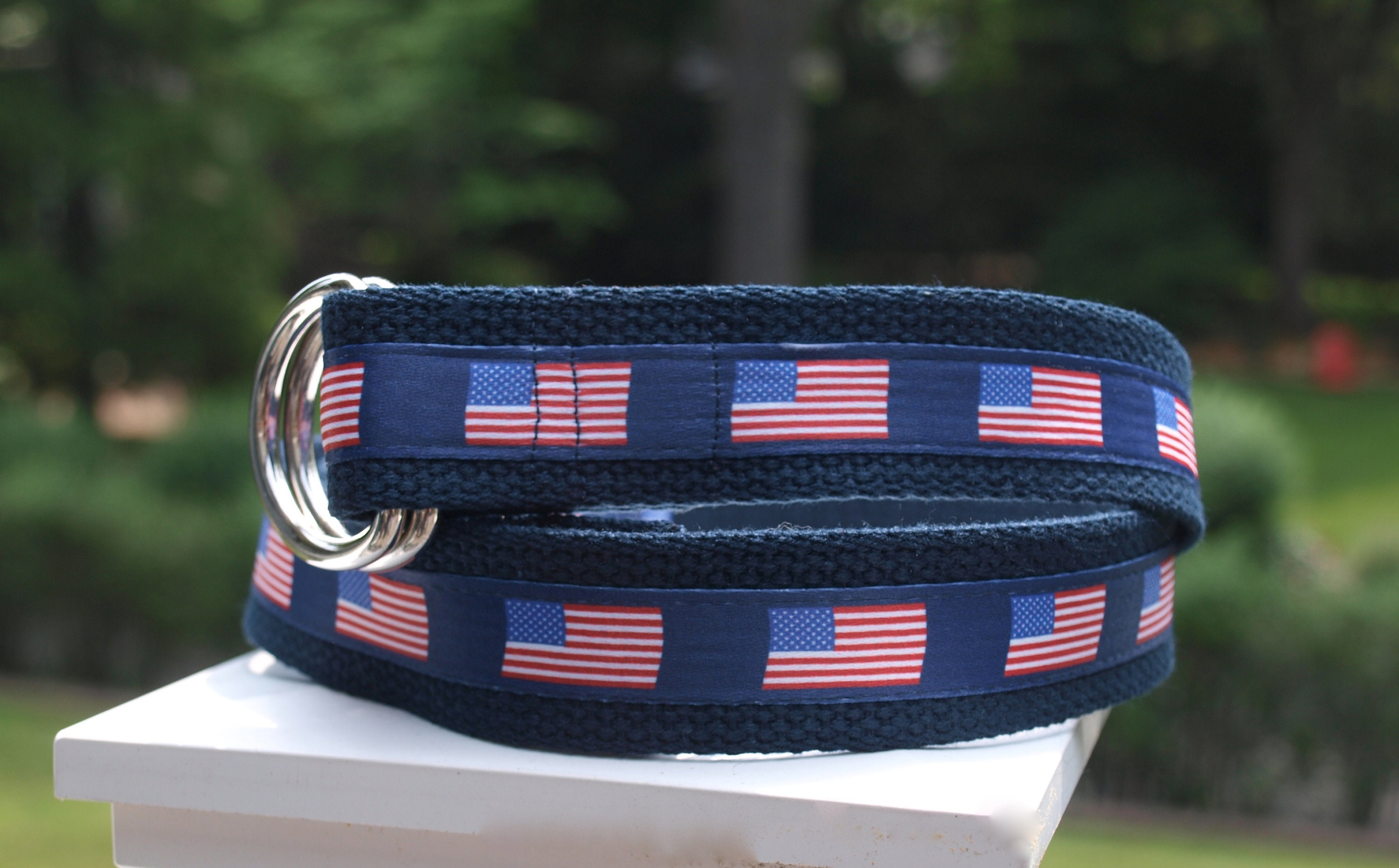 507235a3399d5 American Flag Belt / Fourth of July / Flag Belt / USA Belt / Canvas Belt /  Gift for Dad/ Ribbon Belt / Mens Sizes