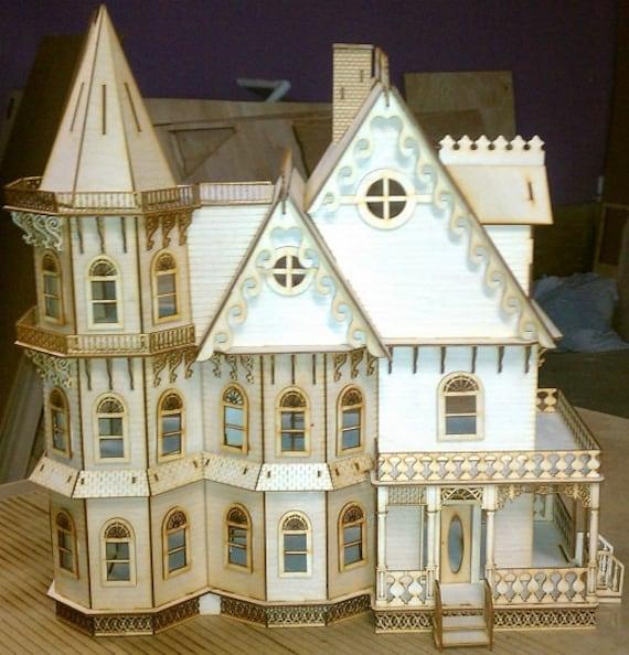 Leon Gothic Victorian Mansion Dollhouse Half Inch Scale