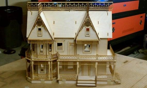 Victorian Farmhouse Half Inch Scale Dollhouse Kit 9 Rooms Etsy