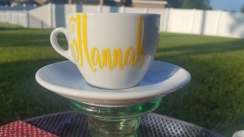 Personalised Tea For One Teacup and Cup All in One Set Many Designs Available