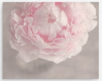 """Pale Pink Peony Flower Wall Art Print 