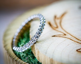 Women's Infinity Diamond Stacking Band - Staghead Designs