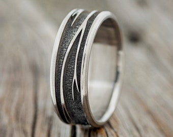 """The """"Legacy""""  Custom Embossed Branches Wedding Band - Staghead Designs"""