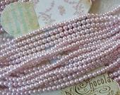 Vintage Bead Strings, Faux 4mm Pearls