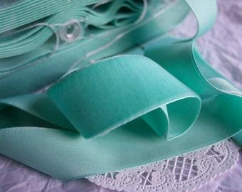 58 inch Aqua Velvet Ribbon  Green Velvet    VRPHX58-066