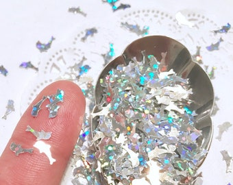 Dolphin Glitter, Sequins, Confetti, Nail Art, Resin, Holographic,