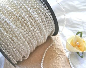 White Bead String, 2.5mm