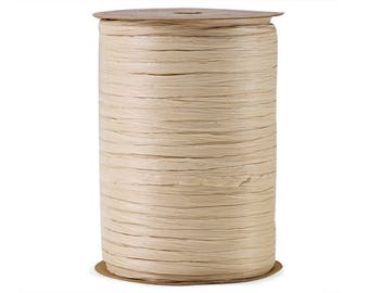 Raffia Ribbon, IVORY BUFF, 100Y Roll