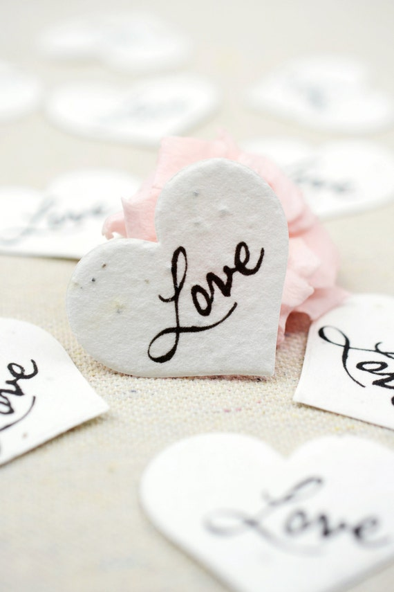 Plantable LOVE Wildflower Seed Paper Confetti Eco Friendly Etsy