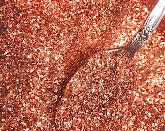 Solvent Resistant COPPER Glitter, Nail Glitter, Craft Glitter, Body Glitter