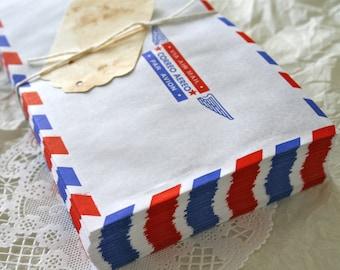 70 Large Air Mail Envelopes, Vintage Retro Style BULK