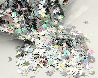 STARS & MOONS Confetti, Solvent Resistant, Halloween