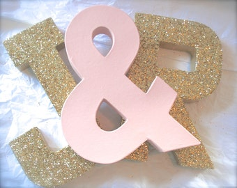 Glittered LETTERS Wedding Decor and Home Decor, Self Standing Letters