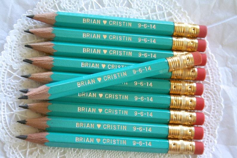 Mini Personalized Pencils Personalized Favors