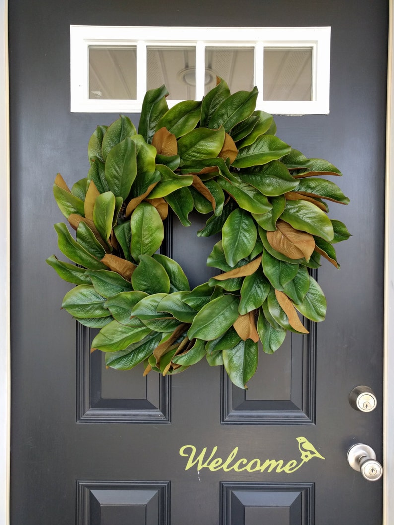 Magnolia Wreath Rustic Wreath Front Door Wreath Fall Etsy