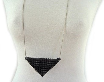 Geometric Necklace - triangle long necklace - geometric - minimalist