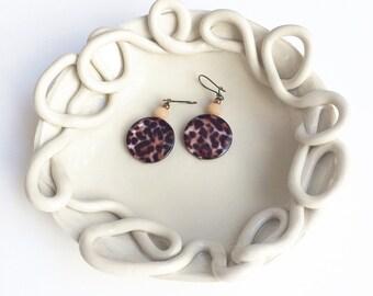 Unique ceramic bowl - decorative white jewelry dish