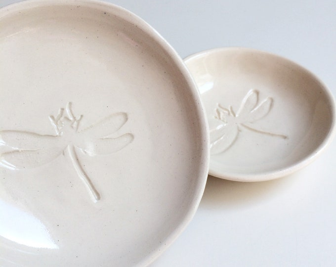 Dragonfly ring holder - small trinket dish - modern jewelry dish set